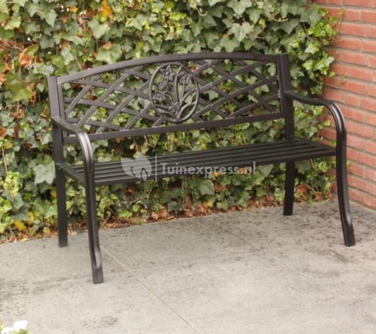 Tuinbankje nl Liverpool 2 zits metalen tuinbank groen   Tuinbankje nl