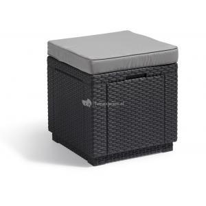 Cube voetenbankje antraciet