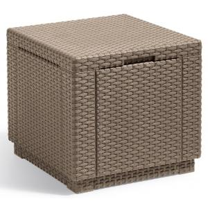 Cube voetenbankje cappuccino