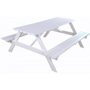 Simone houten picknicktafel wit