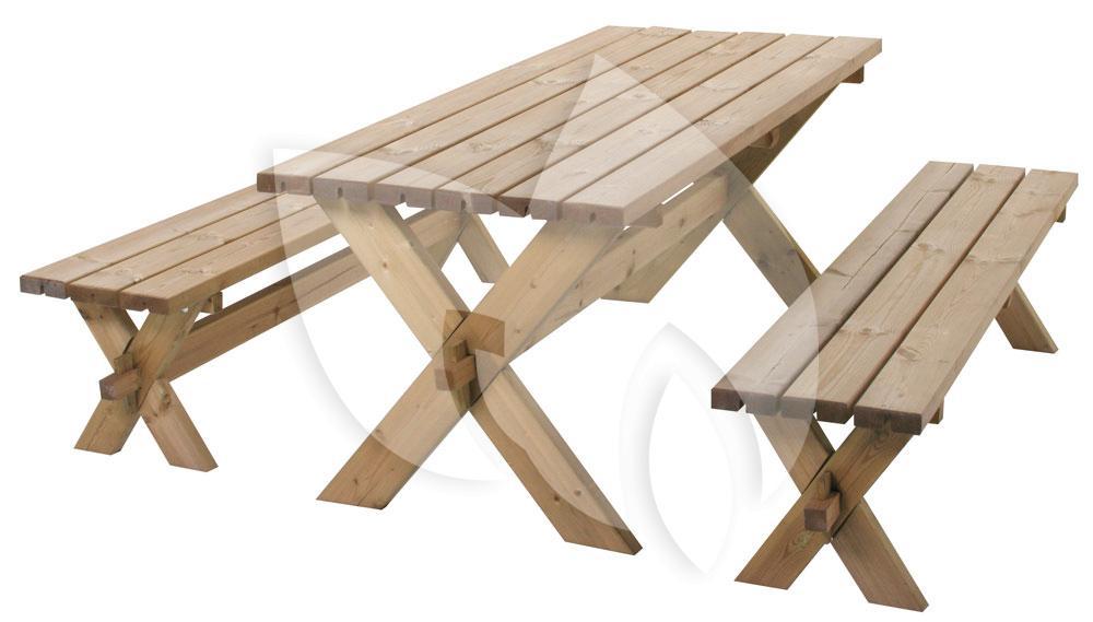 Picknick Tafel Stevig.Gotenborg Houten Picknicktafel