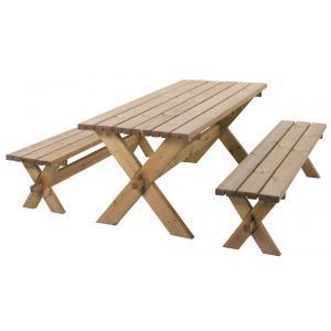 Götenborg houten picknicktafel