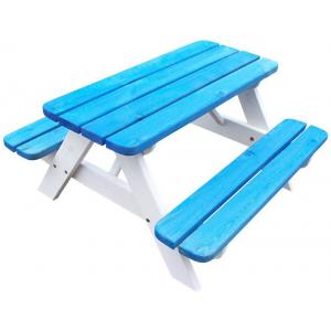 Mickey kinderpicknicktafel blauw/wit