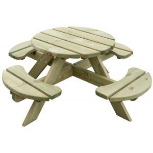 Kinderpicknicktafel geimpregneerd rond