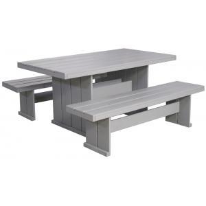 Marseille houten picknicktafel 160 cm grijs