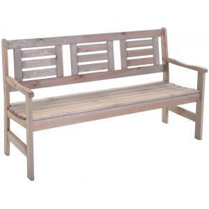 Boulogne 3-zits houten tuinbank grijs