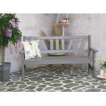 Bretagne 3-zits houten tuinbank grijs