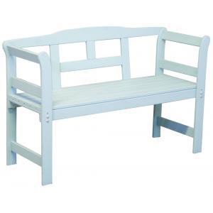 Friese 2-zits houten tuinbank blauw