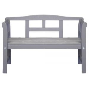 Friese 2-zits houten tuinbank grijs