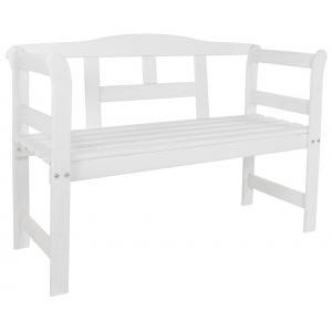 Friese 2-zits houten tuinbank wit