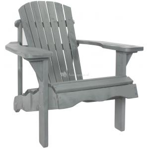 Jumbo Canadian chair 1-zits houten tuinbank grijs