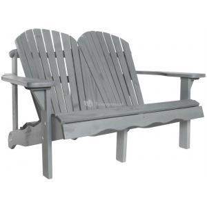 Jumbo Canadian chair 2-zits houten tuinbank grijs
