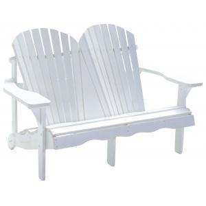 Jumbo Canadian chair 2-zits houten tuinbank wit
