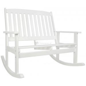 Oliver 2-zits houten schommel tuinbank wit