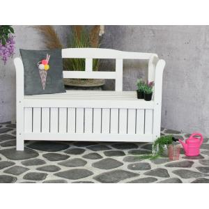 Pinokkio 2-zits houten koffer tuinbank wit