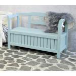 Pinokkio 2-zits houten koffer tuinbank blauw