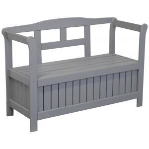 Pinokkio 2-zits houten koffer tuinbank grijs