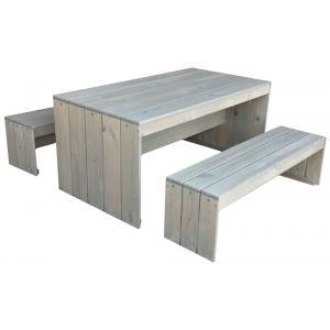 Toulouse steigerhouten picknicktafel