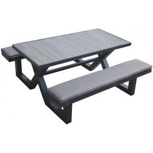 Aluminium picknicktafel 160cm antraciet