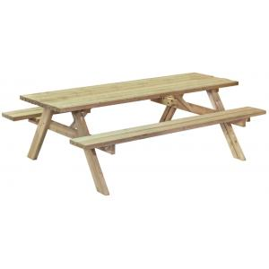 Basis houten picknicktafel