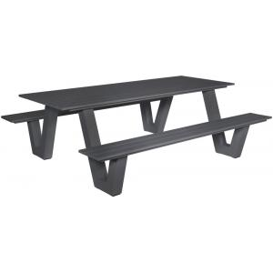 Breeze aluminium picknicktafel antraciet