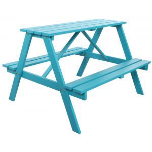 Trendy kinderpicknicktafel blauw