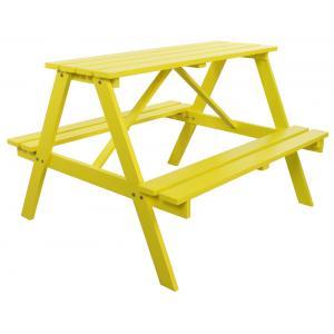 Trendy kinderpicknicktafel geel