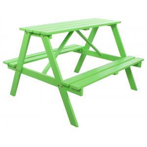 Trendy kinderpicknicktafel groen