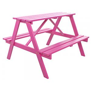 Trendy kinderpicknicktafel roze