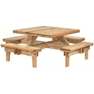 Vierkante picknicktafel geïmpregneerd vuren