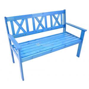 Luton 2-zits houten tuinbank blauw