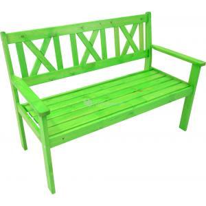 Luton 2-zits houten tuinbank groen