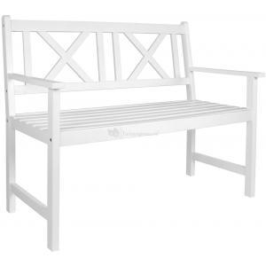 Luton 2-zits houten tuinbank wit