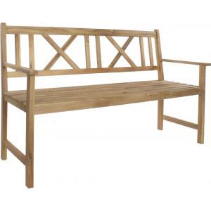 Luton 3-zits houten tuinbank teak-look