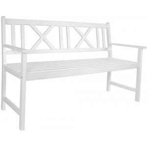 Luton 3-zits houten tuinbank wit